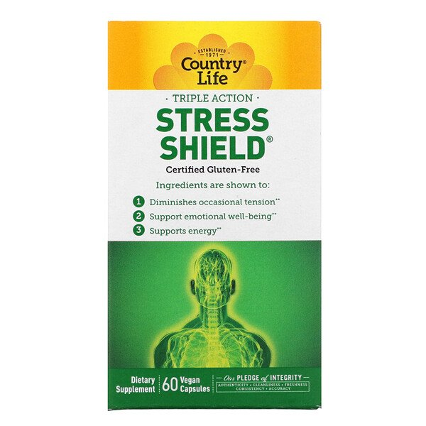 Triple Action Stress Shield, 60 Vegan Capsules