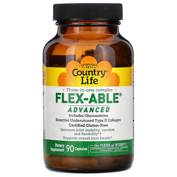 Country Life, Three-In-One Complex, Flex-Able Advanced, 90 Capsules