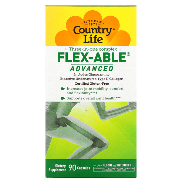 Three-In-One Complex, Flex-Able Advanced, 90 Capsules