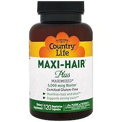 Country Life, Maxi Hair Plus, 5,000 mcg, 120 Veggie Caps
