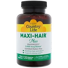 Country Life, Maxi Hair Plus, 120 растительных капсул