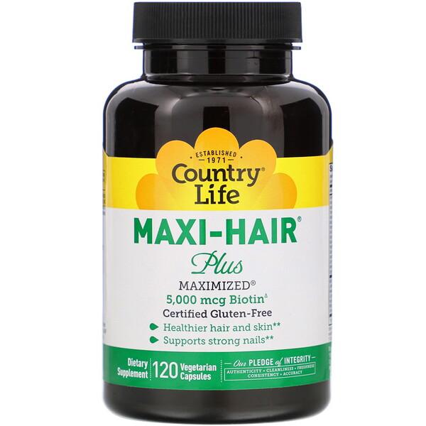 Maxi Hair Plus, 120 Vegetarian Capsules