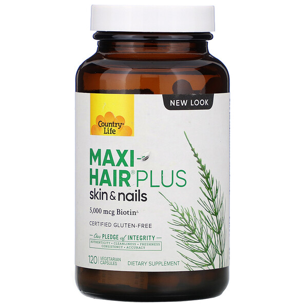 Maxi-Hair Plus, 5,000 mcg, 120 Vegetarian Capsules