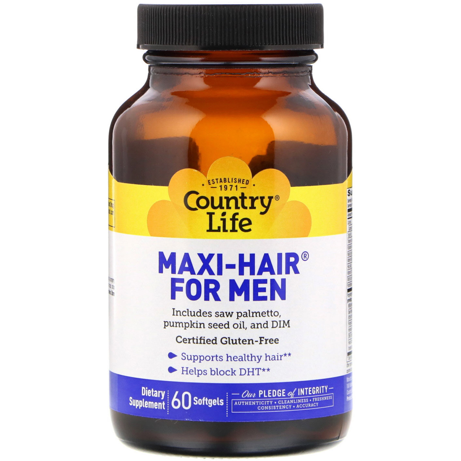 Country Life Maxi Hair For Men 60 Softgels