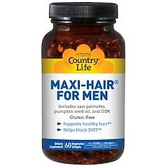 Country Life, Maxi Hair for Men, 60 Cápsulas Gelificadas