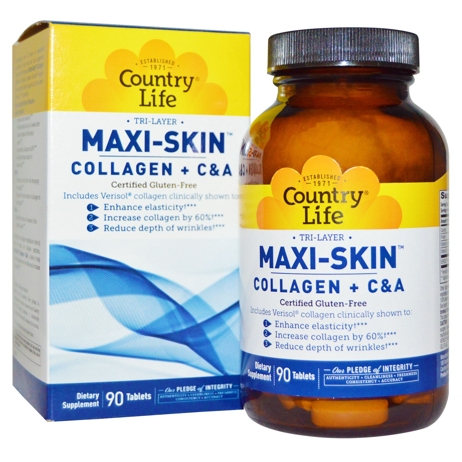 Maxi-Skin Vitality by Country LIfe - 4.3 Ounces Soo Ae Nature Propolis Collagen Essence Mask, 0.85 oz