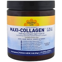 Maxi-Collagen, витамины C и A плюс биотин, высокоэффективный порошок без запаха, 7.5 унций (213 г) - фото