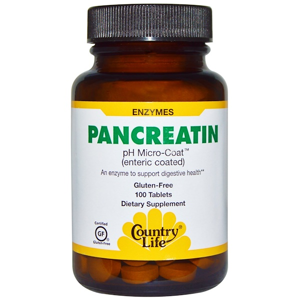 Country Life, Pancreatin, 100 Tablets (Discontinued Item)
