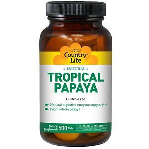 Кантри Лайф, Natural Tropical Papaya, 500 Wafers отзывы покупателей