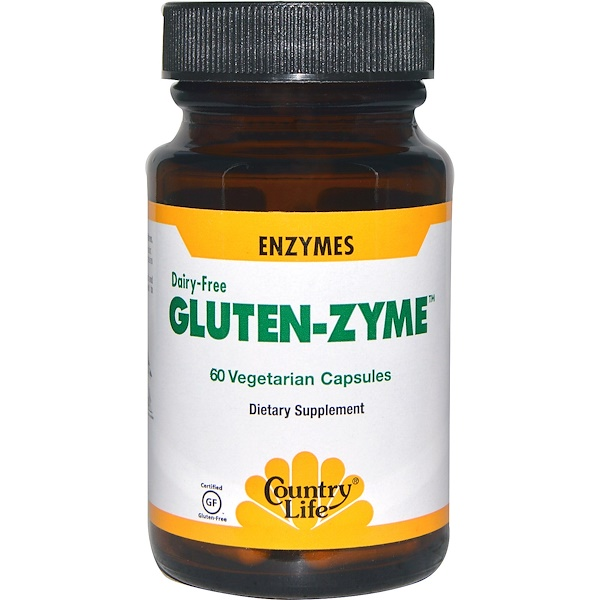 Country Life, Gluten-Zyme, 60 Veggie Caps (Discontinued Item)