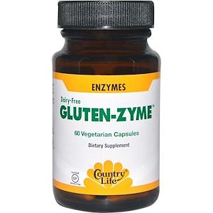 Кантри Лайф, Gluten-Zyme, 60 Veggie Caps отзывы покупателей