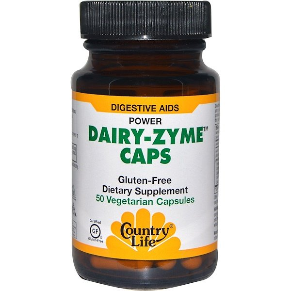 Country Life, Dairy-Zyme Caps, 50 Veggie Caps (Discontinued Item)
