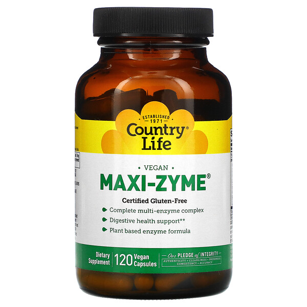 Country Life, Maxi-Zyme, 120 Vegan Capsules