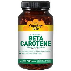 Кантри Лайф, Beta Carotene, 100 Softgels отзывы
