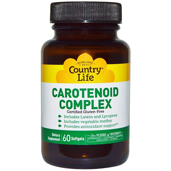 Country Life, Carotenoid Complex, 60 Softgels