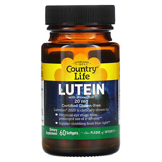 Country Life, Lutein with Zeaxanthin, 20 mg, 60 Softgels