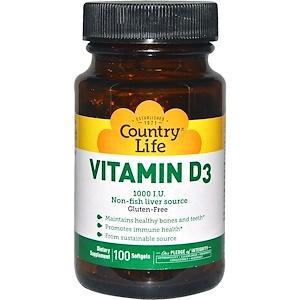 Кантри Лайф, Vitamin D3, 1000 IU, 100 Softgels отзывы покупателей