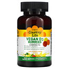 Country Life, Vegan D3 Gummies, Lemon, Strawberry & Orange Flavors, 25 mcg (1,000 IU), 60 Gummies
