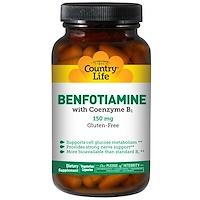 Бенфотиамин, с коферментом B1, 150 мг, 60 растительных капсул - фото