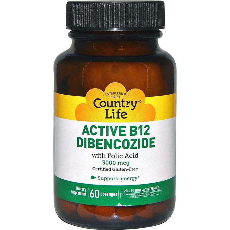 Active B12 Dibencozide, 3000 mcg, 60 Lozenges