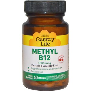 Кантри Лайф, Methyl B12, Cherry, 1,000 mcg, 60 Lozenges отзывы покупателей