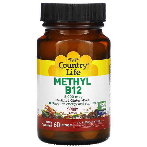 Methyl B12, Cherry, 5,000 mcg, 60 Lozenges