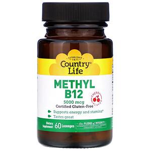 Кантри Лайф, Methyl B12, Cherry, 5,000 mcg, 60 Lozenges отзывы