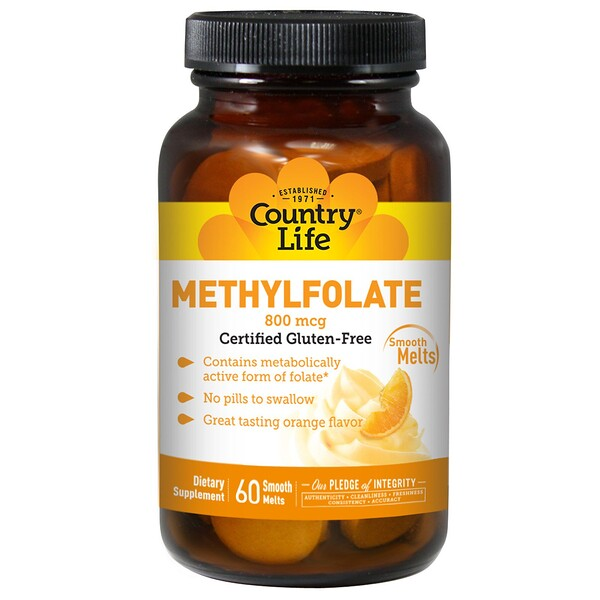 Methylfolate, Orange, 800 mcg, 60 Smooth Melts