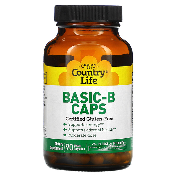 Country Life, Basic-B Caps, 90 Vegan Capsules