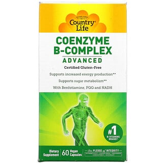 Country Life, Coenzyme B-Complex, Advanced, 60 Vegan Capsules