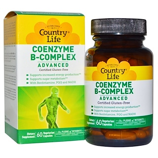 Country Life, Coenzyme B-Complex, Advanced, 60 Vegetarian Capsules