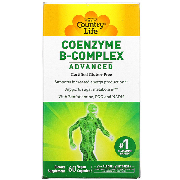 Coenzyme B-Complex, Advanced, 60 Vegan Capsules