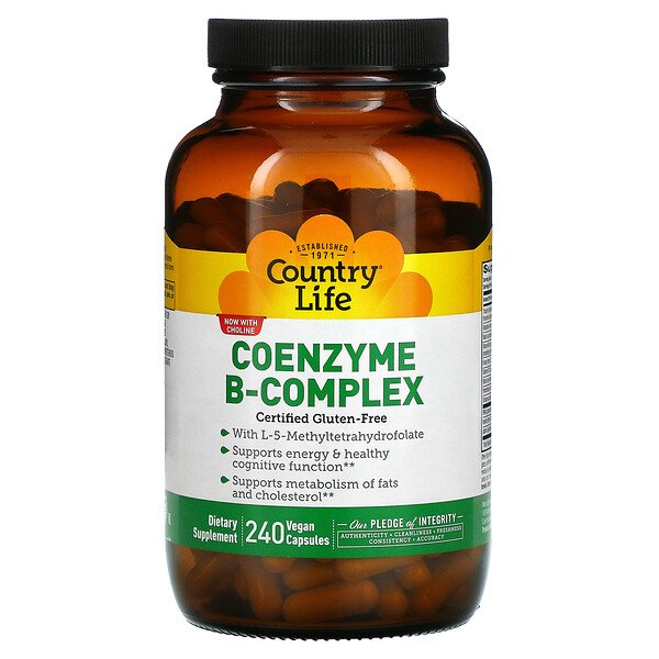 Country Life, Coenzyme B-Complex, 240 Vegan Capsules