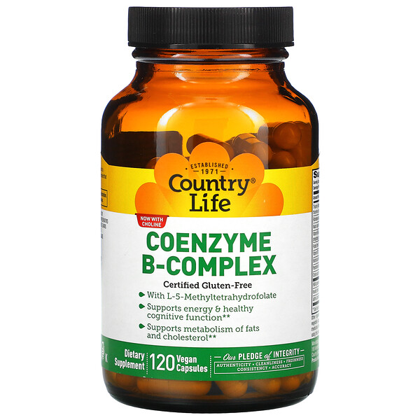 Country Life, Coenzyme B-Complex, 120 Vegan Capsules