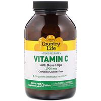 Витамин C, с шиповником, 1000 мг, 250 таблеток - фото