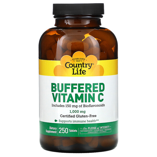 Buffered Vitamin C, 1000 mg, 250 Tablets