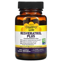 Country Life, Resveratrol Plus, 60 Vegan Capsules