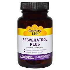 Country Life, Resveratrol Plus, 60 Vegan Caps