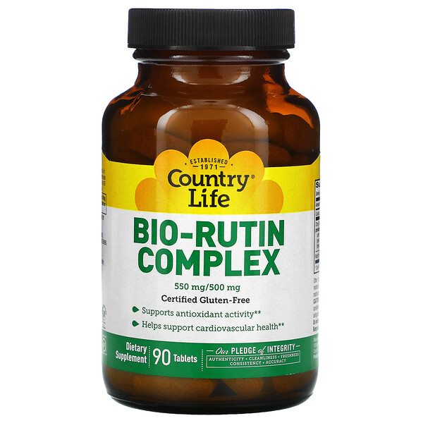 Country Life, Bio-Rutin Complex, 90 Tablets