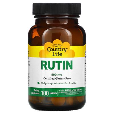 Country Life Рутин, 500 мг, 100 таблеток