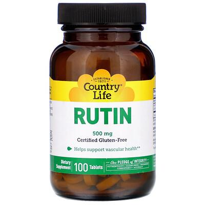 Купить Country Life Рутин, 500 мг, 100 таблеток