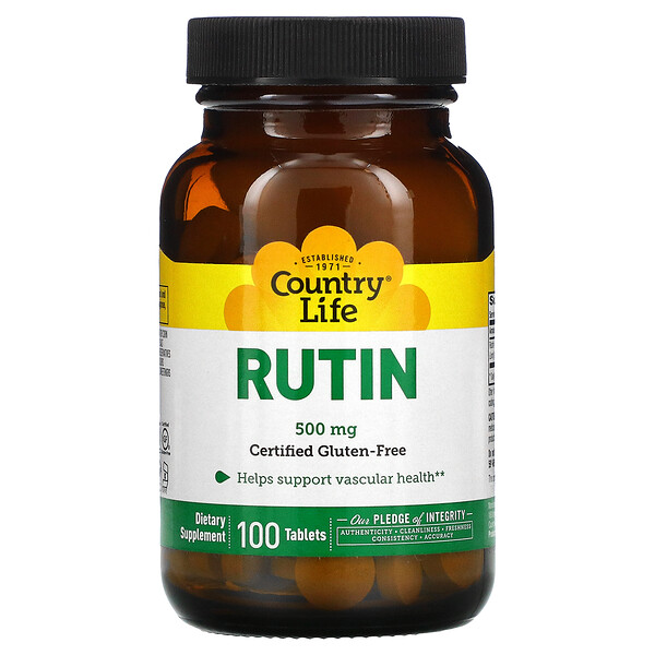Country Life, Rutin, 500 mg, 100 Tabletten