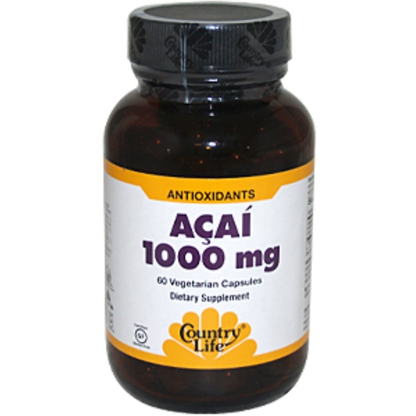 Country Life, Acai, 1000 mg, 60 Veggie Caps (Discontinued Item)