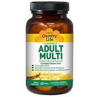 Adult Multi, жевательные мультивитамины для взрослых, со вкусом ананаса и апельсина, 60 пастилок - фото