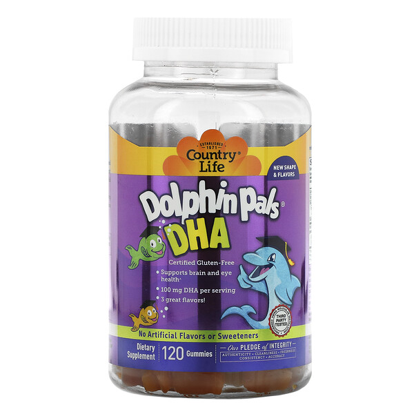 Dolphin Pals, DHA, 90 Sour Gummy Dolphins