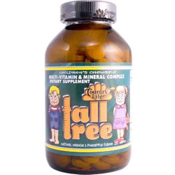 Country Life, Tall Tree, Children's Chewable, 250 Wafers (Discontinued Item)