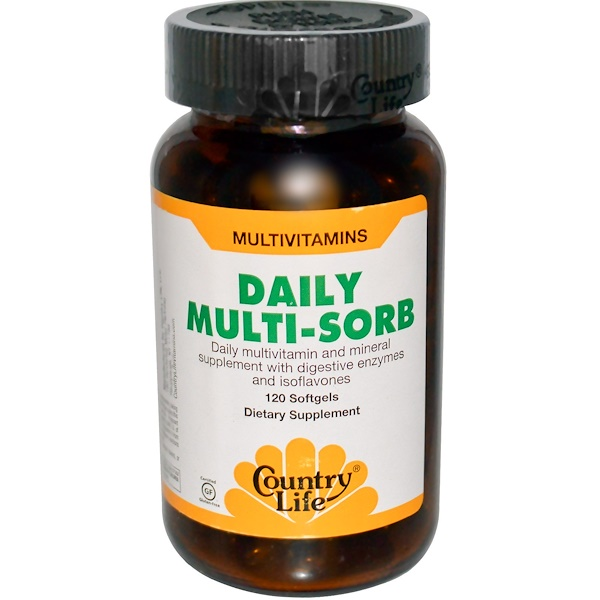 Country Life, Daily Multi-Sorb, 120 Softgels (Discontinued Item)