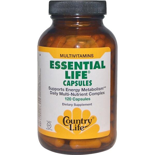 Country Life, Essential Life Capsules, Multivitamins, 120 Capsules (Discontinued Item)