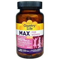 Max, для женщин, мультивитаминный и минеральный комплекс, с железом, 120 таблеток - фото