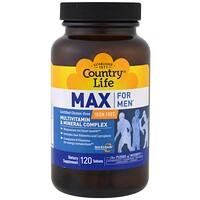 Max for Men, мультивитаминный и минеральный комплекс для мужчин, не содержит железа, 120таблеток - фото